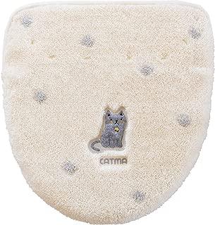 オカ(OKA) ふたカバー アイボリー ドレニモタイプ キャットマ6 (ネコ 猫)