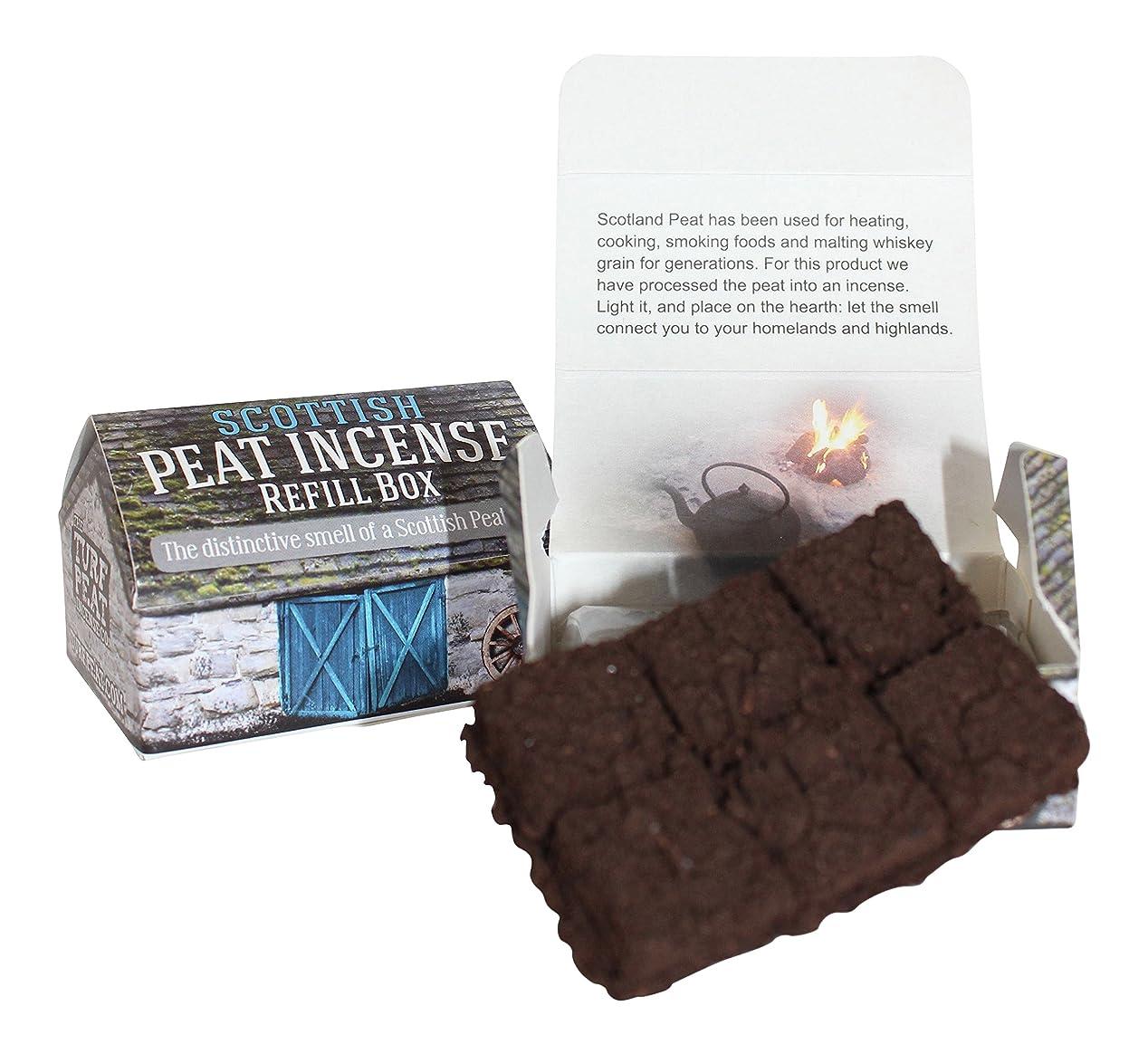 敵知覚内向きスコットランドTurf Peat Incense Refills forセラミックHighland Cottage Burner
