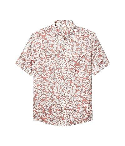 Faherty Short Sleeve Playa Shirt (Faded Red Botanical) Men