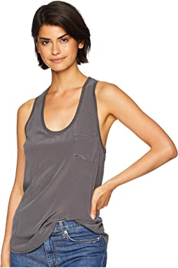 Alicia Sleeveless Silk Tank Top