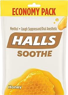 Halls Honey Cough Drops - with Menthol - 80 Drops (1 bag of 80 drops)