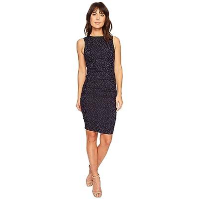 Nicole Miller Lauren Sheath Dress (Navy) Women