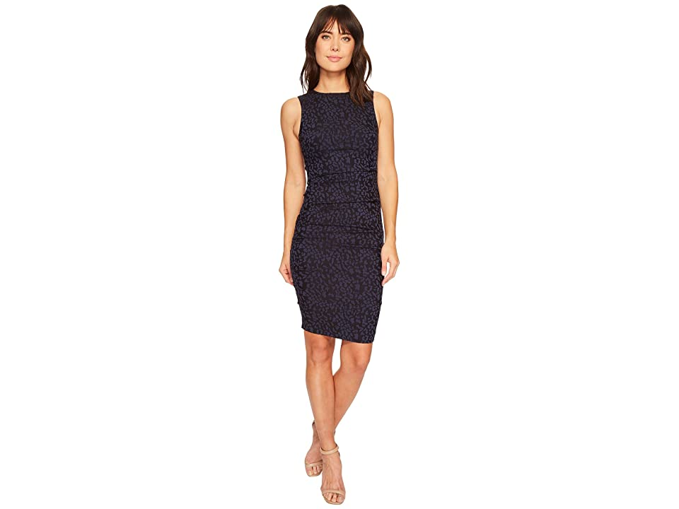 Nicole Miller Lauren Sheath Dress (Navy) Women