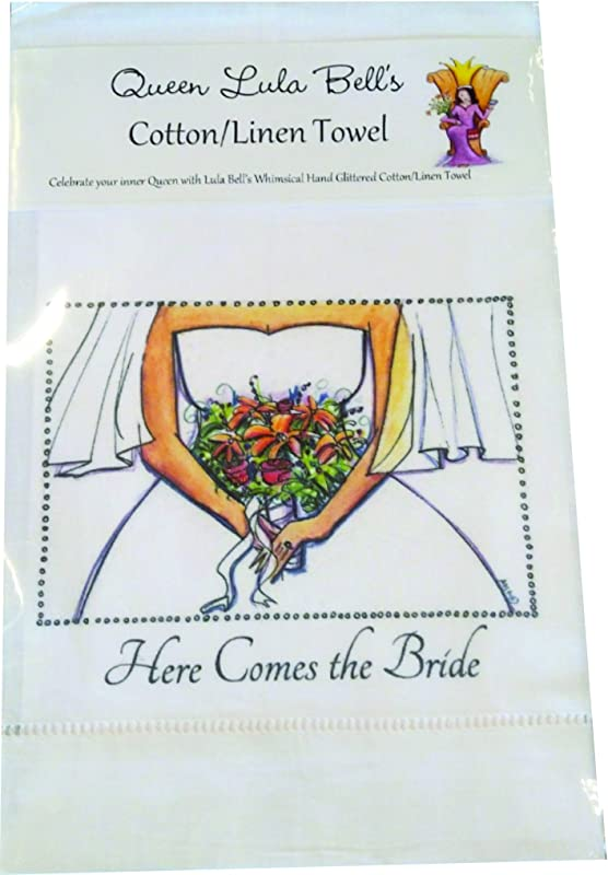 Lula Bell Art Wedding Linen Towels Gift Cards And Canvas Pictures Gifts Linen Towel Here Comes The Bride