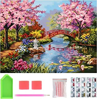 40X 30cm Premium 5D Diamond Painting Kit, Kids and Adults Paint with Diamonds Full Kit, DIY Diamond Art Painting for Wall ...
