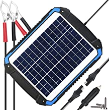 SUNER POWER 12V Solar Car Battery Charger & Maintainer - Portable 12W Solar Panel Trickle Charging Kit for Automotive, Motorcycle, Boat, Marine, RV, Trailer, Powersports, Snowmobile, etc