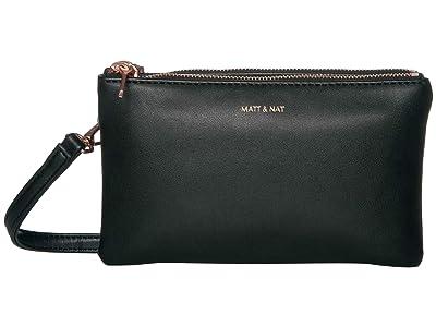 Matt & Nat Loom Triplet (Black/Rose Gold) Handbags