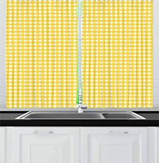 Best yellow and white kitchen curtains Reviews