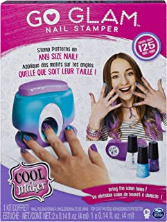 Cool Maker, GO Glam Nail Stamper, Nail Studio with 5 Patterns to Decorate 125 Nails (Packaging May Vary), Multicolor