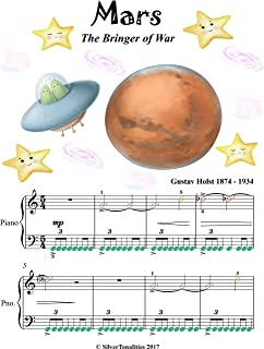 Mars the Bringer of War Easy Piano Sheet Music with Colored Notes