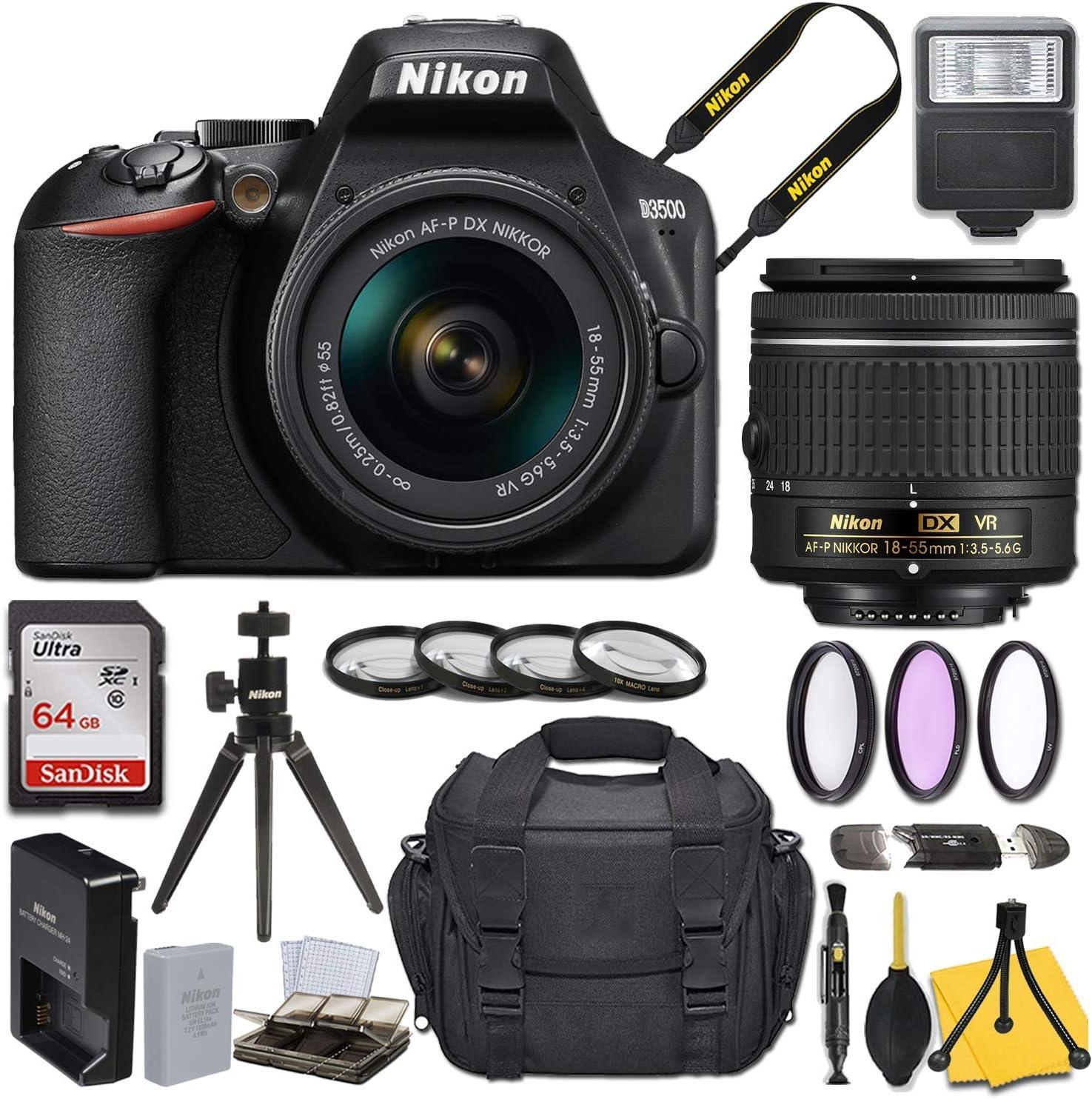 Nikon D3500 DSLR Camera with AF-P lowest price 3.5-5.6G 18-55mm f Large-scale sale DX NIKKOR V