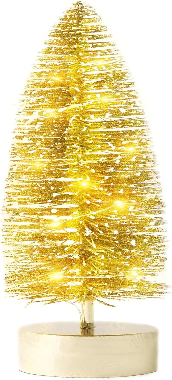 Lowest price challenge Varmax Prelit Christmas Tree Mini Tabletop Go 11'' Glitter Large discharge sale