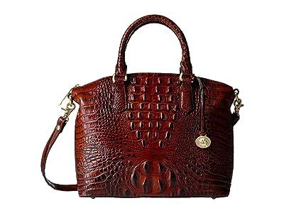 Brahmin Melbourne Duxbury Satchel (Pecan) Satchel Handbags