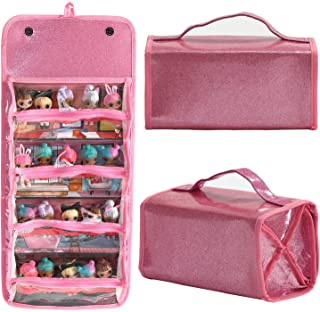 Leeche Storages & Display Case for Dolls Compatible with All LOL Surprise Dolls,Easy Carrying Storage Organizer Clear View Case