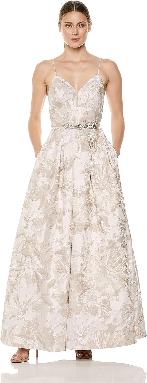 Eliza J Womens Jacquard Aline Ball Gown Formal Dress