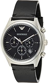 Emporio Armani Men's Quartz Watch, Analog Display and Leather Strap AR1975