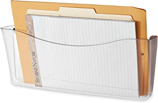 Rubbermaid Unbreakable Single Pocket Wall File, Legal Size, Clear (65980ROS)
