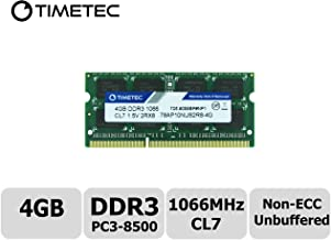 Timetec Hynix IC 4GB DDR3 1066MHz PC3-8500 Unbuffered Non-ECC 1.5V CL7 2Rx8 Dual Rank 204 Pin SODIMM Memory RAM Module Upgrade (4GB)