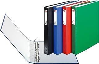 Herlitz Protect - Lote de archivadores con 4 anillas (3 unidades, A4), varios colores
