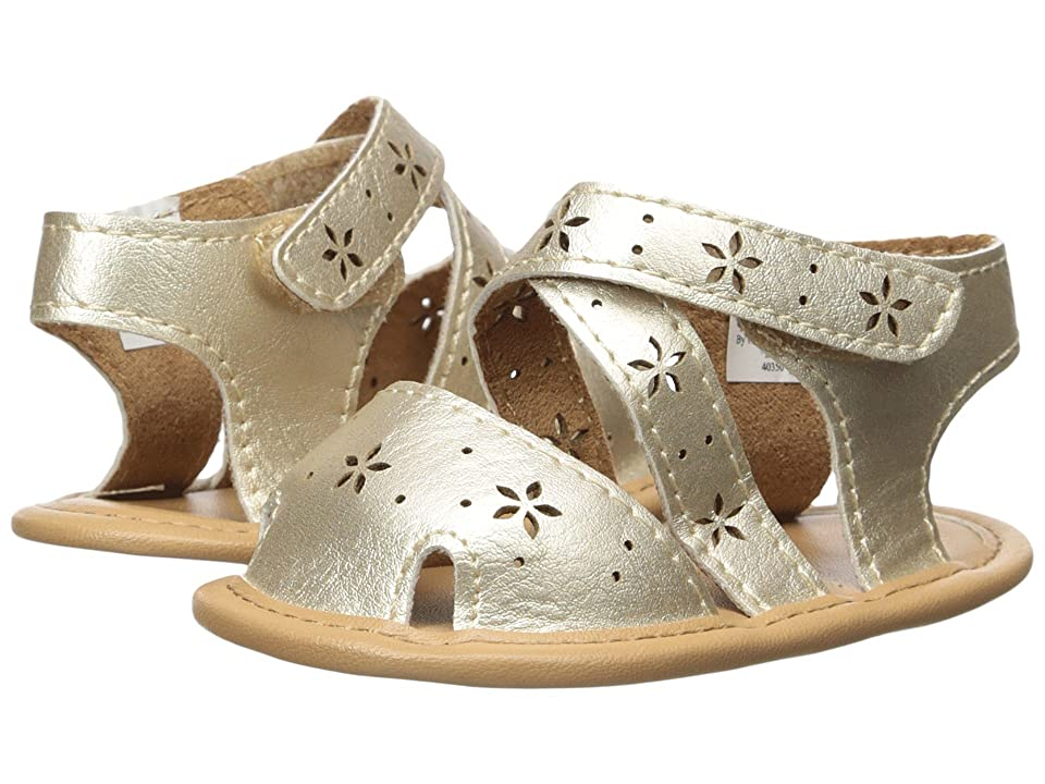 Baby Deer Soft Sole Sandal with Cut Outs (Infant) (Champagne) Girls Shoes