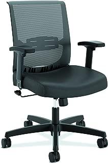 HON The Company HONCMS1AUR10 Convergence Task Computer Chair for Office Desk, Black Vinyl (HCT1MM), Swivel-Tilt