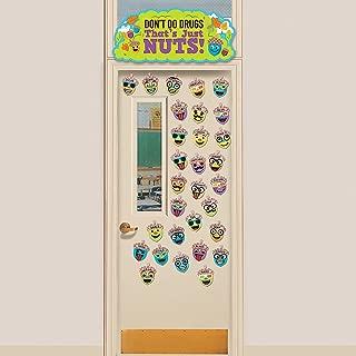 Fun Express - Drugs are Nuts Door Decor Set - Educational - Classroom Decorations - Bulletin Board Decor - 31 Pieces