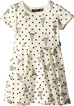 Hokey Pokey Short Sleeve Waisted Dress (Toddler/Little Kids/Big Kids)
