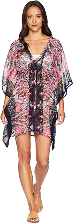 Sea Fan Paisley Silky Caftan