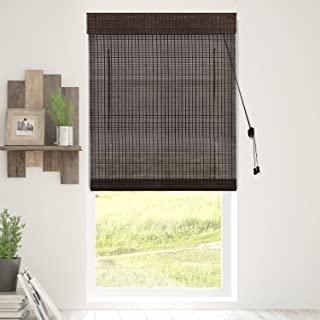 Chicology Bamboo Roman Shades / Wood Window Blind, Bamboo, Privacy - Treehouse, 39