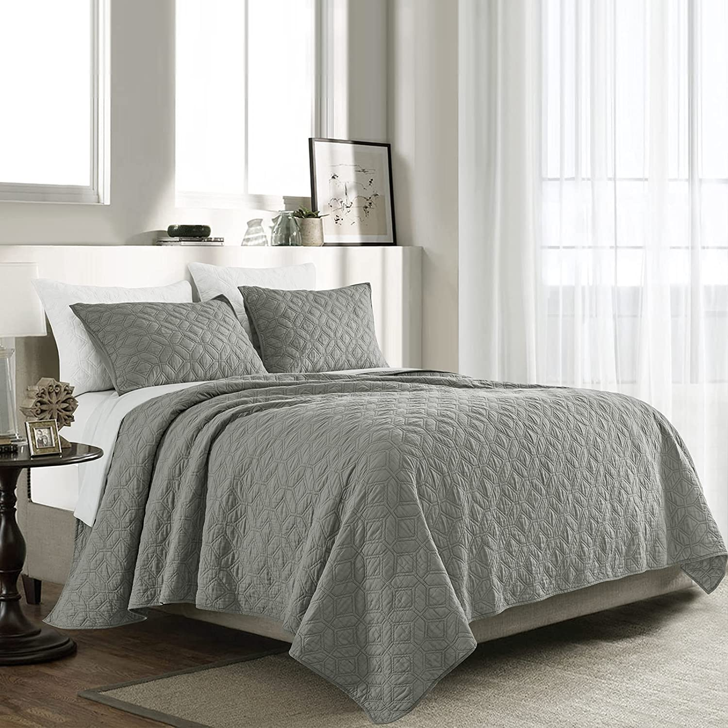 SHALALA NEW YORK Cotton Voile Quilt Set Shams U Ranking TOP9 - Sales of SALE items from new works 2 Quilted with