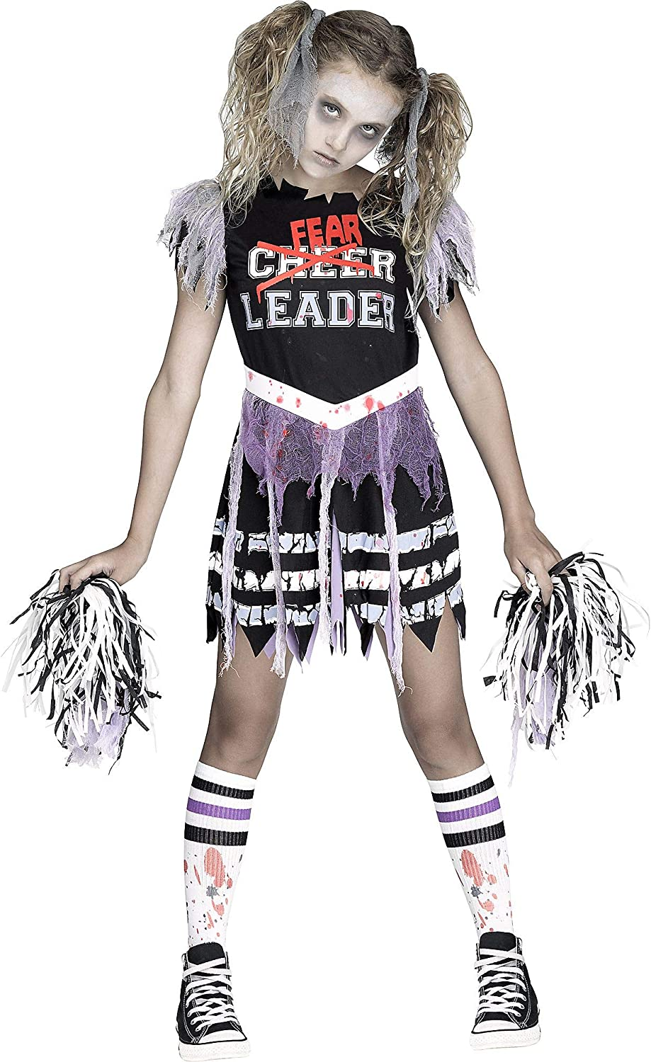 Fun World Zombie Fearleader 2021new shipping free Costume Multicolor X-Large 14-16 Virginia Beach Mall
