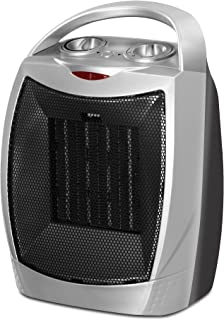Utopia Home Ceramic Space Heater - 750W / 1500W Power Setting - Adjustable Thermostat - PTC Heating Element - Over-Heating Protection System
