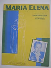 MARIA ELENA WALTZ LORENZO BARCELATA 1941 SHEET MUSIC SHEET MUSIC 204