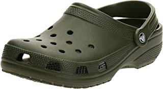 Crocs Unisex Classic Clogs, Army Green, M9 | W10 UK(43/44 EU)