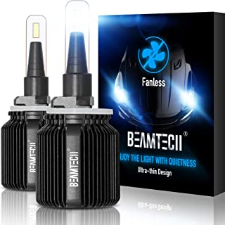 BEAMTECH 880 LED Headlight Bulbs,Fanless CSP Y19 Chips 8000 Lumens 6500K Xenon White 885 893 899 Extremely Bright Conversion Kit of 2