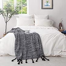 "ATLINIA Linen Cotton 3 Pieces Duvet Cover Set, Queen Size (88"" x 92"") Duvet Cover & Standard (20"" x 26"") Pillow Shams, Was..."