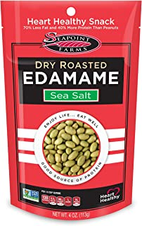 Seapoint Farms Dry Roasted Edamame, Sea Salt, 4-Ounce Pouches (Pack of 12)