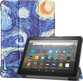HoYiXi Hoes voor All-new Fire HD 8 Plus 2020 / Fire HD 8 2020 PU-leer Case Tri-fold Smart Cover met Stand Functie Tablet H...