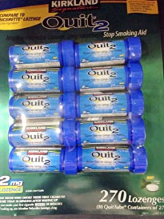 Kirkland Signature Quit2 2mg Lozenge Mint 270 Count.
