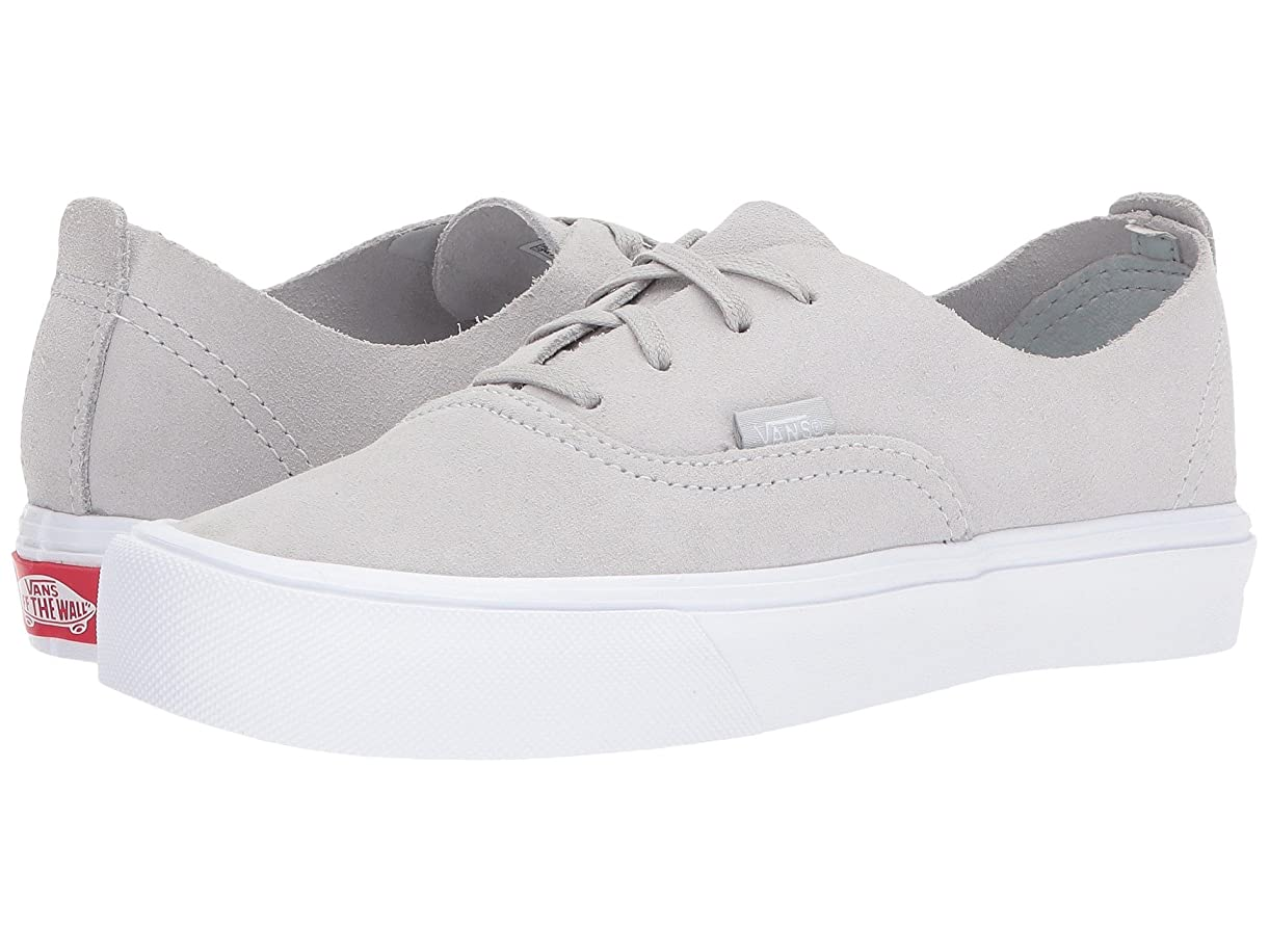 拍手人柄まで(バンズ) VANS メンズスニーカー?靴 Authentic Deacon Lite (Suede) Glacier Gray/True White Men's 5.5, Women's 7 (23.5cm(レディース24cm)) Medium