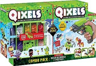ASMOKIDS- Combo pixtolet y Méga recambios–Qixels–niño–a Partir de 4años