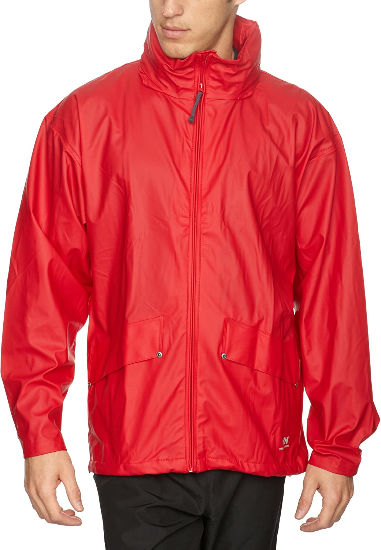 (Small, Red)  Helly Hansen Men's Voss Waterproof Jacket
