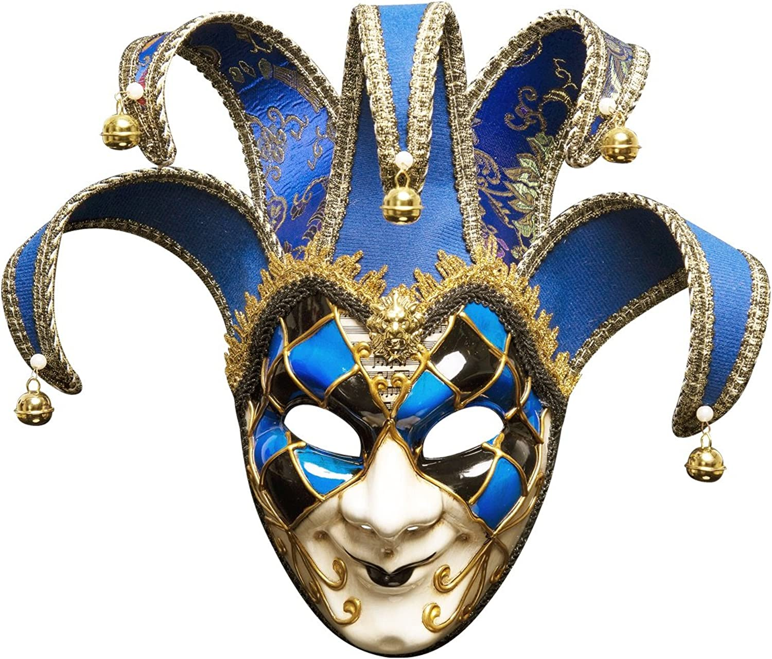 Men's Halloween Masks Holiday Party Christmas Fancy Venice  Full Face Antique Mask (color   bluee)