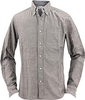 [SWEEP!! LosAngeles スウィープ ロサンゼルス] メンズ シャンブレー ボタンダウンシャツ CHAMBREY BLACK(ブラック)