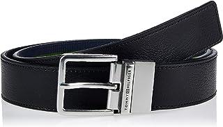 حزام عصري يلبس على الوجهين عرض 3.5 سم للرجال من تومي هيلفجر، اسود، طول 85 سم