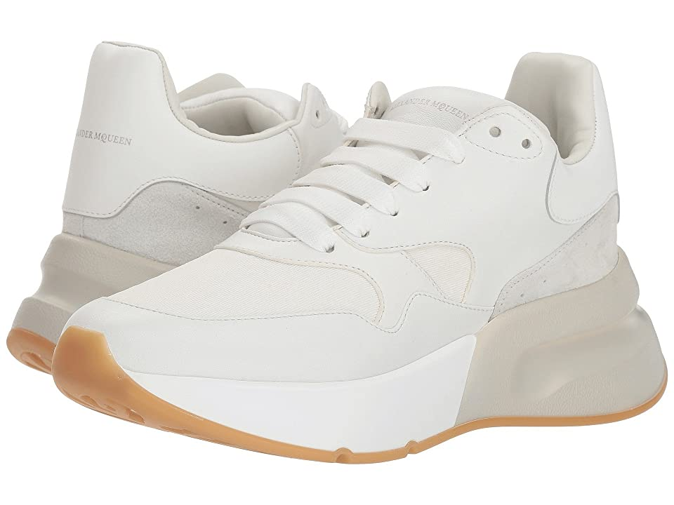 Alexander McQueen Oversized Runner Sneaker (White/Cream) Women