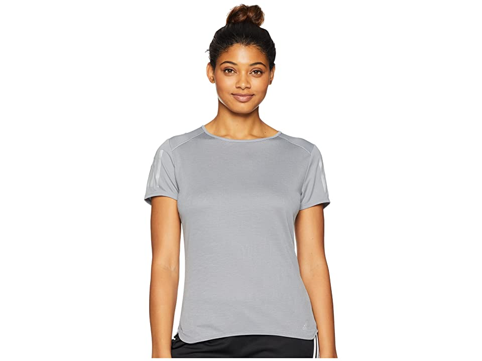 adidas Response Short Sleeve Tee (Grey) Women