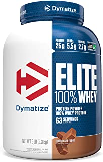 Sponsored Ad - Dymatize Elite 100% Whey Protein Powder, 25g Protein, 5.5g BCAAs & 2.7g L-Leucine, Quick Absorbing & Fast D...
