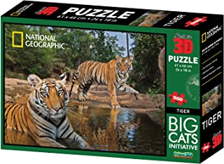National Geographic Big Cats Initiative Tigers Super 3d Puzzle (500-piece,