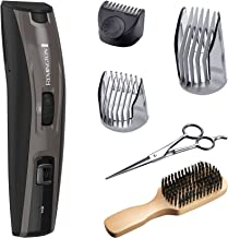 Remington MB4045B The Beardsman: Beard Boss Full Beard Trimmer Kit, Precise Detail Groomer (6 pieces), Platinum